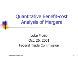 The Role of Econometric Analysis in Antitrust