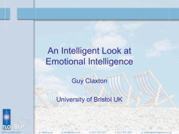 An Intelligent Look at Emotional Intelligence