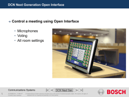 DCN Open Interface Version 1.0 - Starin