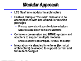 LCS Acquisition Approaches Brief to ASN