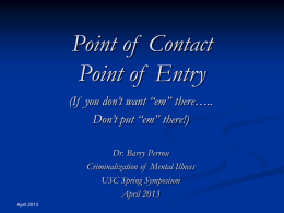 Point of Contact Point of Entry