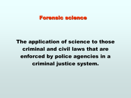 Forensic science - East Williston Union Free School District