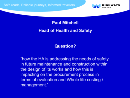 PowerPoint Presentation - Health and Safety in Procurement
