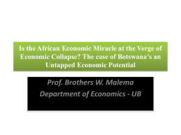 Is the African Economic Miracle at the Verge of Economic