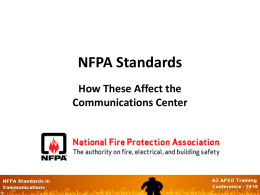 NFPA Standards - AZ APCO/NENA Homepage