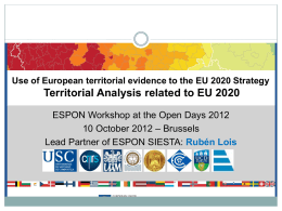 "SIESTA Spatial Indicators for a ""Europe 2020"" Territorial"
