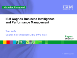 IBM Cognos Business Intelligence and Performance Management