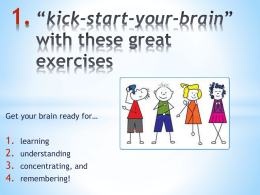 "kick-startBrain "" Exercises"