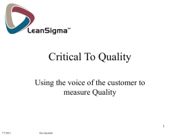 Critical To Quality