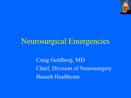 Neurosurgical Emergencies - Mithoefer Center for Rural Surgery