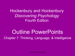 Hockenbury and Hockenbury Psychology Fourth Edition