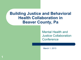 Beaver County Behavioral Health Beaver County, Pa