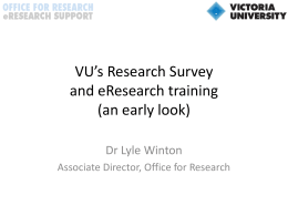 eResearch and VU