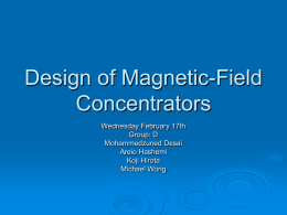 Design of Magnetic-Field Concentrators