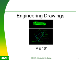 ME 161 Introduction to Design