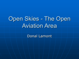Open Skies - The Open Aviation Area