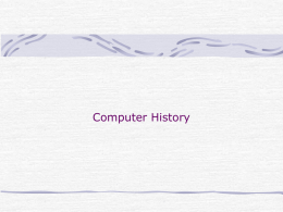 Computer History (. ppt )