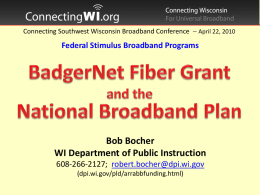 Connecting Southwest Wisconsin Broadband Conference April