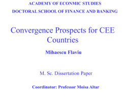 Convergence Prospects for CEE Countries