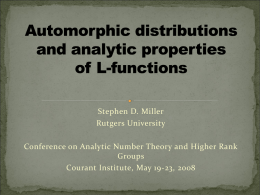 Automorphic distributions and analytic properties of L