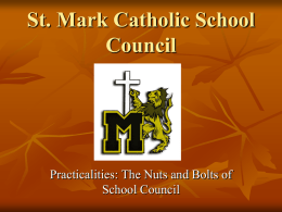 WELCOME St. Marguerite d'Youville Catholic School Council