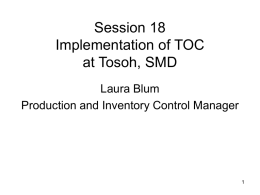 Implementation of TOC