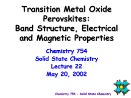 Electrical Properties - home | chemistry.osu.edu