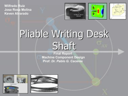 Pliable Writing Desk Shaft