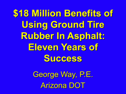 Flagstaff I-40 Asphalt Rubber Overlay Project Nine Years