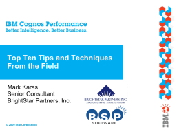 Performance 2009 Template - BrightStar Partners, Inc