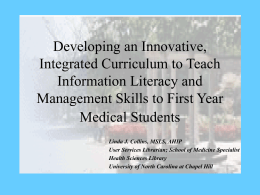 Developing an Innovative, Integrated Curriculum to Teach