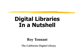 PowerPoint Presentation - Digital Library Issues & Techniques