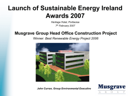 Launch of Sustainable Energy Ireland Awards 2007