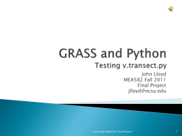 GRASS and PythonTesting v.transect.py