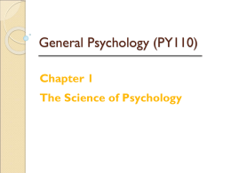 Griggs Chapter 1: The Science of Psychology