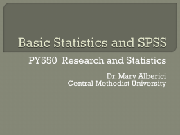 Basic SPSS for Students