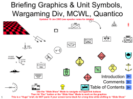 Briefing Graphics and Tactical Symbols