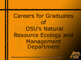 Careers In Natural Resources - Oklahoma State University
