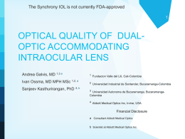 Optical Quality of the Synchrony IOL