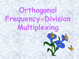 Orthogonal Frequency-Division Multiplexing