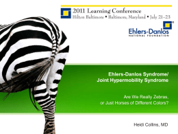 Ehlers-Danlos Syndrome/Joint Hypermobility Syndrome