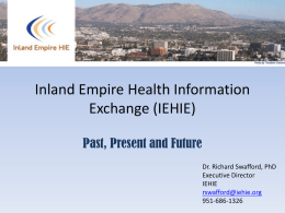 Inland Empire Health Information Exchange (IEHIE)