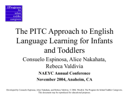 The PITC Approach to English Language Learning for Infants