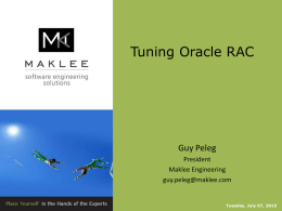 Tuning Oracle RAC