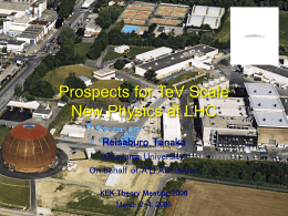Search for Physics beyond the Standard Model at LHC