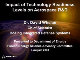 Impact of Technology Readiness Levels on Aerospace R&D