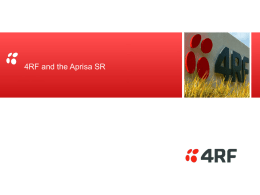 4RF and the Aprisa SR - Smart Radio for Smart Radio Networks