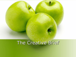The Creative Brief - UF College of Journalism and