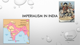 Imperialism in india - Kentucky School For the Deaf