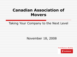 Canadian Association of Movers Taking Your Company to the
